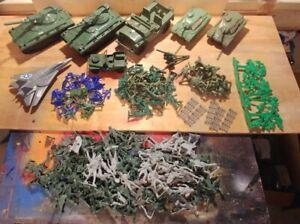 Vintage Toy Soldiers Marx American Battleground Hilltop Alpha TIMMEE Tank Lot