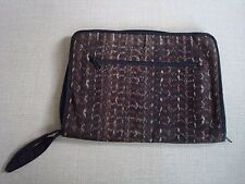 """VINTAGE IKAT FABRIC SOFT LAP TOP BAG FROM INDONESIA ZIP FASTENINGS / POCKETS 14"""""""