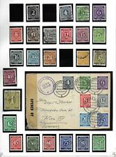 Allied Zone stamps 1946 Collection of stamps + censored cover