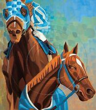 Secretariat Print Triple Crown Horse Winner Racing Art  Equine SFASTUDIO