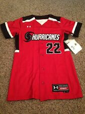 Under Armour Women's Hurricanes Softball Jersey Size Small New
