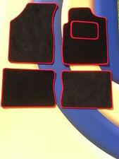 RENAULT CLIO 09 - 12 / WILLIAMS / NERO TAPPETINI AUTO CON BORDO ROSSO Set di 4 nuovi B