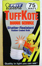 75W 130V Shatter Resistant Light Bulb TuffKote Frosted Lamp 75A/RS/TF-130