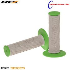 KAWASAKI KX125 KX250 2008 DUAL COMPOUND MOTOCROSS GRIPS RFX GREY / GREEN