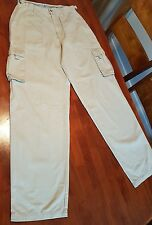 "Colorado Unisex Adventure Wear. Size 8  (28"") Beige with wide leg. 100% Cotton."