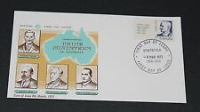 AUSTRALIA 1972 7c PRIME MINISTER FISHER WITH TAB ISSUE ON WESLE FIRST DAY COVER