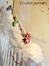 Crochet pattern, pingouins, noël/nouvelle année décoration, escaliers decor