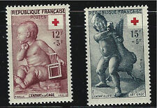 France SC B300-301 ChildWithCageBy Pigalle&Child W/Goose By Boethus MNH 1953