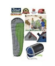 Crivit Biker Travel Sleeping Bag Compact Light Mummy Lightweight Hiking Camping