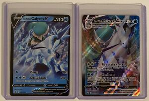 Pokemon Chilling Reign Ice Rider Calyrex VMAX, V Ultra Rare 2 x Cards Pack Fresh