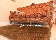 5' x 6' Plush Mountain Coyote Faux Fur Area Rug Home Lodge Cabin Accents