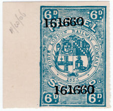 (I.B) North London Railway : Parcel Stamp 6d (printer's specimen)