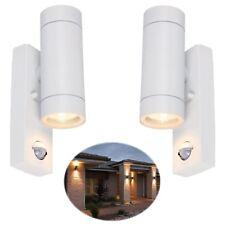 2 x Security PIR Sensor Porch Outside Wall Door Patio House Garden Light - WHITE