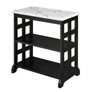 Convenience Concepts American Heritage Baldwin Chair Table, Blk - 7105065BL