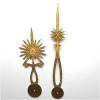 Jeu d'aiguilles soleil pour comtoise - hands for Comtoise Antique french clock