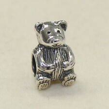 NEW AUTHENTIC PANDORA CHARM TEDDY BEAR BEAD 790395  W SUEDE POUCH