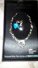 Gemstone Charmology Bracelet In Gift Box. Success and heart charms Mother's Day