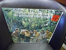 The Greenwood County Singers Return To LP RCA [Orange Label] IN Shrink EX