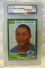 BARRY SANDERS 1989 SCORE ROOKIE CARD#257 GEM MINT PRO 9.5 -DETROIT LIONS RB