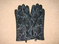 Wilsons Black Print Leather Women's/Ladies Gloves Size M - NEW!