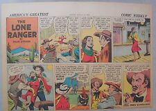Lone Ranger Sunday Page by Fran Striker and Charles Flanders from 8/25/1940