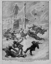 METEOROLOGY GREAT STORM BLIZZARD OF MARCH 1888 PRINTING HOUSE SQUARE NEW YORK