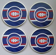 MONTREAL CANADIENS - SET OF 4 ABSORBENT DRINK COASTERS - NHL LICENSED - NEW!