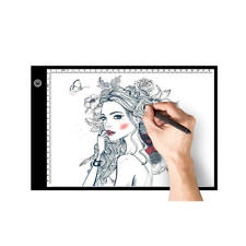 A4 LED Light Box Tracer Drawing Pad with Adapter, Dimmable Brightness