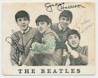Beatles VINTAGE 1963 UK FAN CLUB PHOTO CARD SIGNED BY 3 BEATLES! JOHN, RINGO, GH
