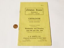 More details for 1954 auction catalogue newton house londonderry raf  leeming bedale #y92