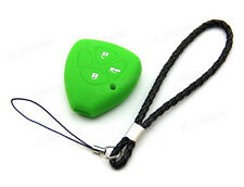 Green Silicone Case Cover For Toyota ECHO RAV4 AVENSIS VERSO CAMRY Remote Key 3B