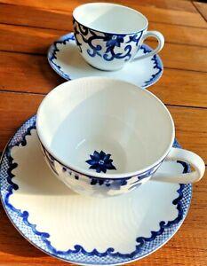 *NEW* SET of 2 ~ Ralph Lauren Mandarin Blue Cups & Saucers 6418518 China