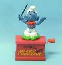 20061 CHORLEITER Schlumpf smurf Spieluhr musicbox carillon MERRY CHRISTMAS
