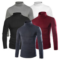 Men High Neck Winter Warm Pullover Jumper Turtleneck Cotton Sweater Tops Thermal