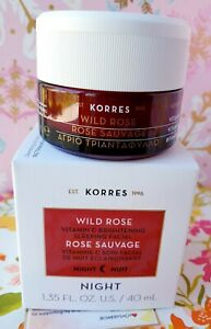 Korres WILD ROSE NIGHT Vitamin C Brightening Sleeping Facial Cream 1.35oz/40 ml