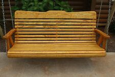 Classic Amish Heavy Duty 700 Lb 5ft. Porch Swing-Cedar Stained-Usa
