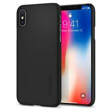 Original Spigen Protector Cover for iPhone X Ultra Thin Fit Vase Black