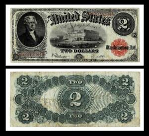 1917 $2 LARGE SIZE~LEGAL TENDER NOTE~~VERY FINE