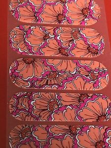Jamberry Half Sheet - Boheman Blossom - Retired VHTF Unicorn Pink and Orange