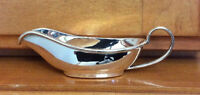 "English Sterling Silver Miniature Gravy Sauce Boat over 4"" Long 31gr Polished"