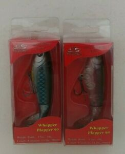 (2) River2Sea Whopper Plopper 90 Top Water Prop Bait Fishing Lures Lot of 2