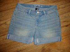 APT 9 Denim Roll Cuff Shorts Size 4