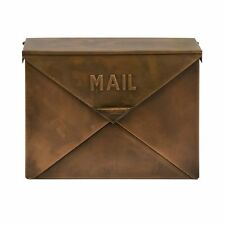 IMAX 44090 Tauba Copper Finish Mail Box Security Mailboxe, New