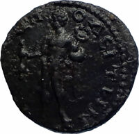 SEPTIMIUS SEVERUS Authentic Ancient MARCIANOPOLIS Roman Coin w HERMES i77419