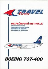 TRAVEL SAFETY CARD BOEING 737-400