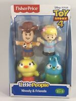 """LITTLE PEOPLE By Fisher Price """"Toy Story 4"""" Woody & Friends"""" Figurines NEW"""