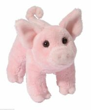 "BUTTONS 6"" PIG stuffed plush animal toy pink by Douglas Cuddle Toy"