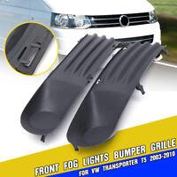 Front Left & Right Bumper Grille Fog Light Cover For VW Transporter T5 2003-2010