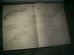 Vintage Admiralty Chart 1481 SCOTLAND - RIVER TAY & DUNDEE DOCKS 1924 edn
