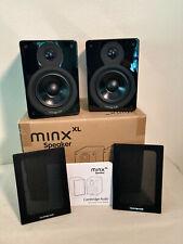 Black Cambridge Audio Minx XL speakers in excellent condition